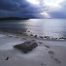 Sandy feet &amp; rolling evening cloud, Morar by artyfifi