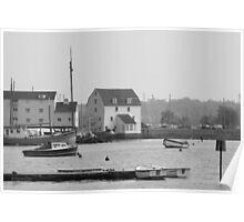 Woodbridge harbour scene Poster