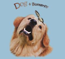 Dog and Butterfly Baby Tee
