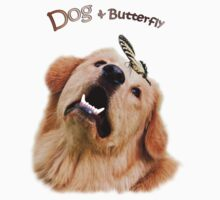 Dog and Butterfly One Piece - Short Sleeve