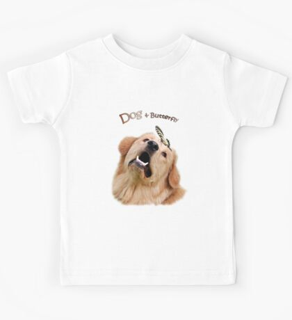 Dog and Butterfly Kids Tee