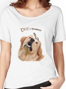Dog and Butterfly Women's Relaxed Fit T-Shirt