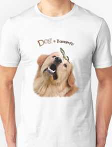 Dog and Butterfly T-Shirt