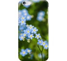 Nature Abstract Wildflowers Forget me nots iPhone Case/Skin