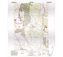 USGS Topo Map Oregon Buck Butte 279169 1992 24000 Poster