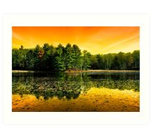 Sunrise Reflection Landscape Art Print