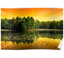 Sunrise Reflection Landscape Poster