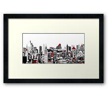 Skyline Combo Framed Print