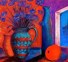 Still life with an orange by vickimec