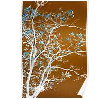 Chocolate Forest Tree Art Poster
