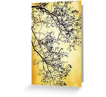 Black and Gold Tree Art Greeting Card