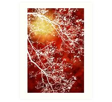 Burgundy Tree Abstract Art Print