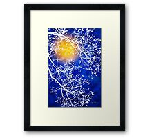 Blue Tree Abstract Framed Print