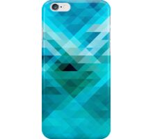 Blue geometric background iPhone Case/Skin