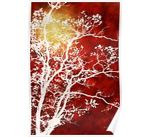 Burgundy Tree Art Poster