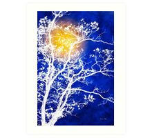 Blue Tree Art Art Print