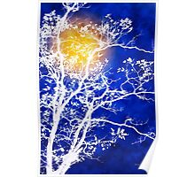 Blue Tree Art Poster