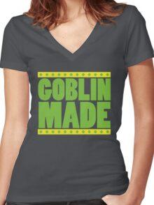 Goblin Made  Women's Fitted V-Neck T-Shirt
