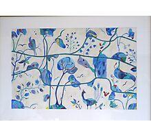 Secret Garden blue Photographic Print