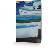 Rowed - Sorrento boats Greeting Card