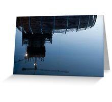 Upside down construction Crane Greeting Card