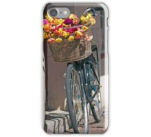 Bicycle with Floral Basket iPhone Case/Skin