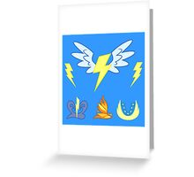 My little Pony - Wonderbolts Cutie Mark Special Greeting Card