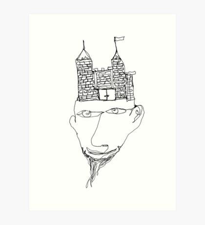 the mind's a fortress Art Print