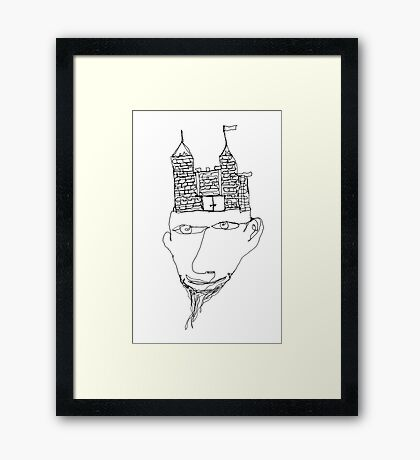 the mind's a fortress Framed Print