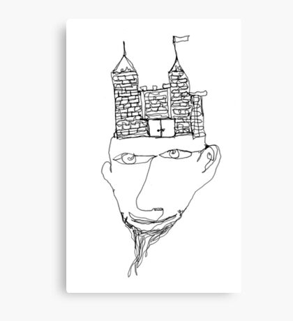 the mind's a fortress Canvas Print