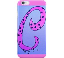 Letters of the alphabet C iPhone Case/Skin