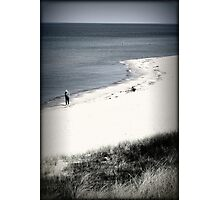 Walking Alone Photographic Print