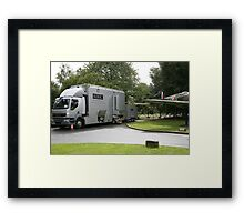 The BBC outside broadcast vehicle. Framed Print