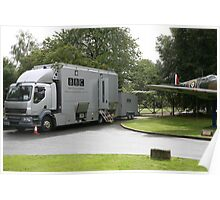 The BBC outside broadcast vehicle. Poster