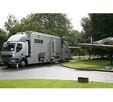 The BBC outside broadcast vehicle. Photographic Print