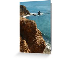 Scenic view in Palos Verdes, Southern California, USA Greeting Card
