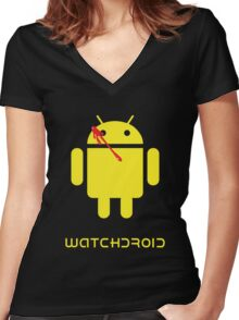 Watchdroid Women's Fitted V-Neck T-Shirt