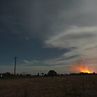 Cane Fire in the distance by Tim Harper