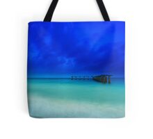 the old shipping pier Tote Bag