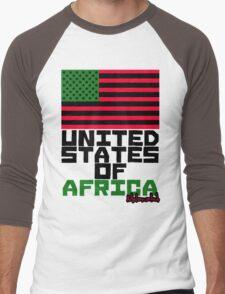 UNITED STATES OF AFRICA Men's Baseball ¾ T-Shirt