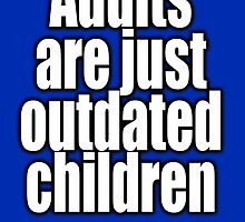 Dr. Seuss, Adults are just outdated children. Navy, Blue by TOM HILL - Designer
