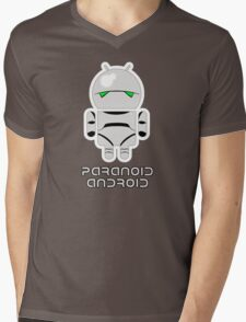 PARANOID ANDROID Mens V-Neck T-Shirt