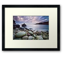Pebble Beach at Sunset Framed Print