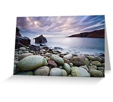 Pebble Beach at Sunset Greeting Card