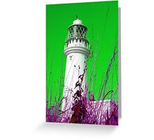 Alien Flamborough Lighthouse Greeting Card