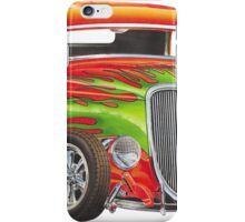Orange Flame Out Mutant Hot Rod iPhone Case/Skin