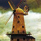 Llancayo Windmill, Usk, Wales by buttonpresser