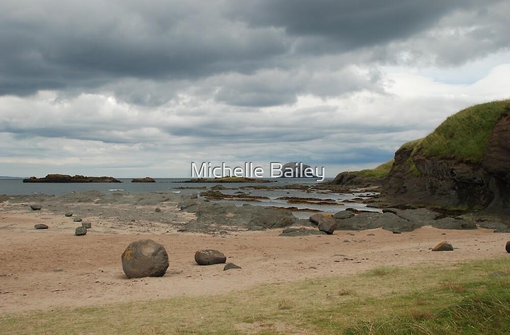 Bass Rock, low tide 2 by Michelle Bailey