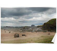 Bass Rock, low tide 2 Poster