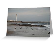 Barnes Ness Lighthouse,  Greeting Card